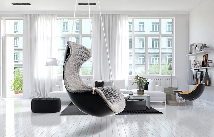 Rocking chair in interior