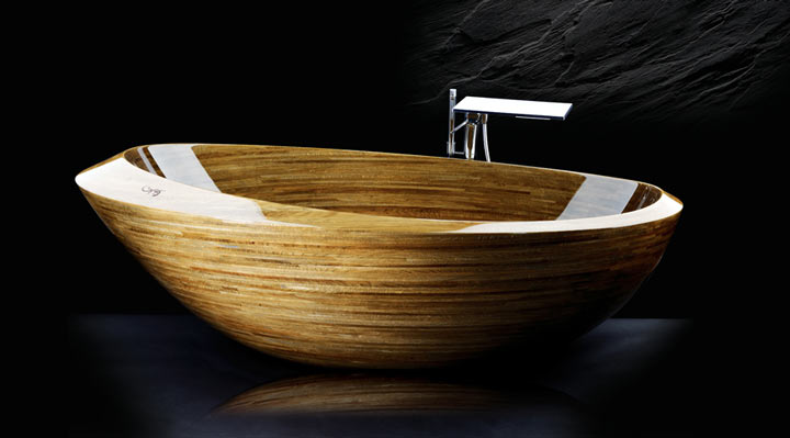 All-wood washbasin Elypse