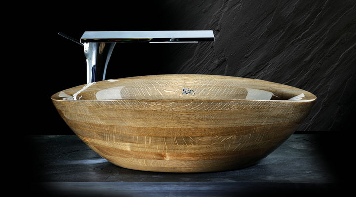 All-wood washbasin Horizont